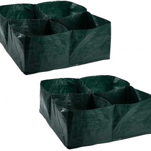 2 Pack Raised Garden Fabric Planter Bed With Grid